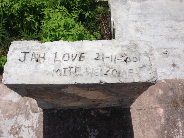 Random picture from an abandoned development, but Jah Love.