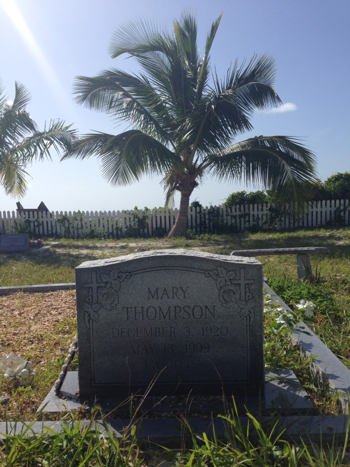 "Inscribed on the gravestone: ""I'm fine."""