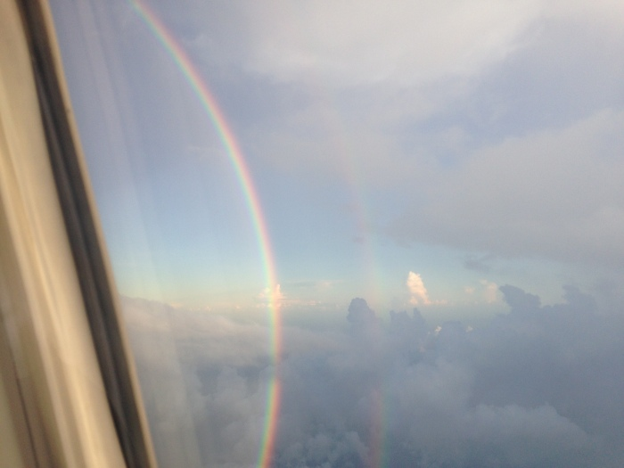 which took us through a double rainbow.