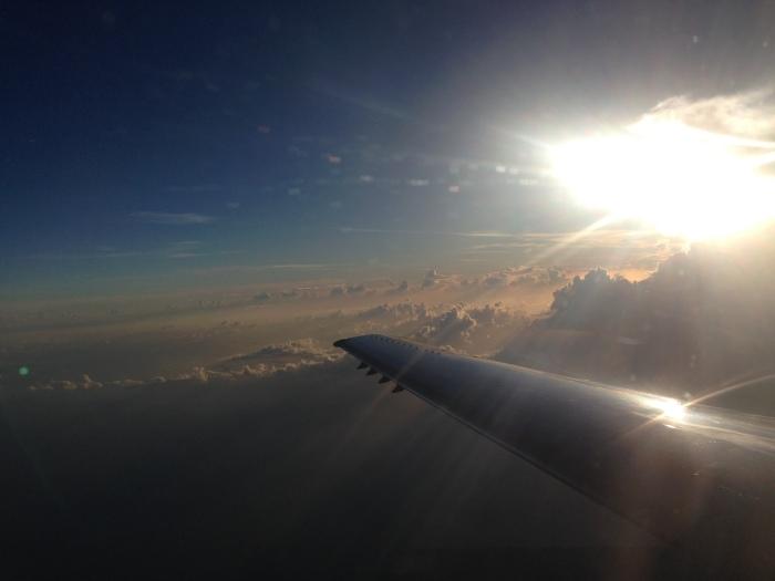 The flight to Miami